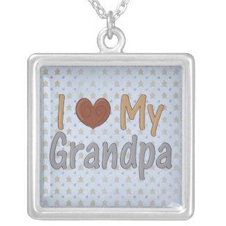 I Love my Grandpa Sterling Silver Necklace