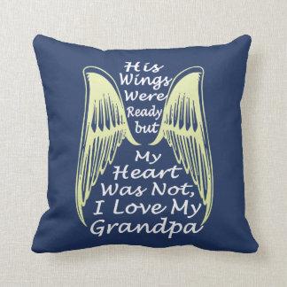 I Love My Grandpa Throw Pillow