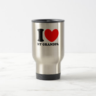 I Love My Grandpa Travel Mug
