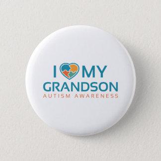 I Love My Grandson 2 Inch Round Button
