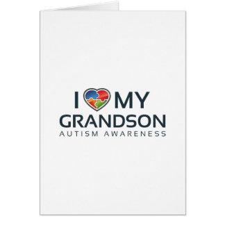 I Love My Grandson Card