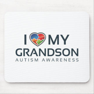 I Love My Grandson Mouse Pad