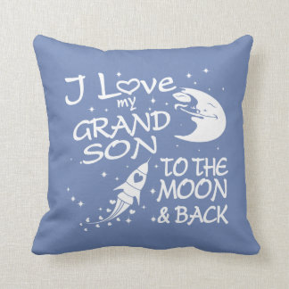 I Love My GrandSon to the Moon and Back Throw Pillow