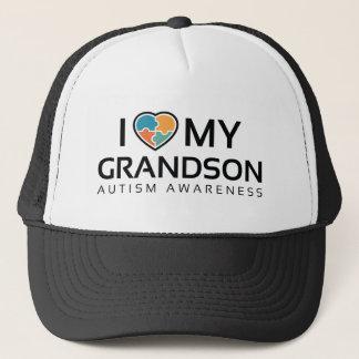 I Love My Grandson Trucker Hat