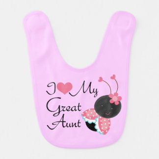 I Love My Great Aunt Baby Girl Bib