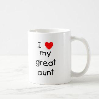 I Love My Great Aunt Coffee Mug