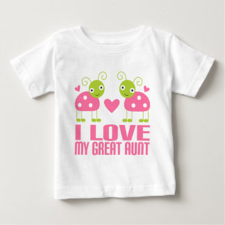 I Love My Great Aunt Ladybug Baby T-Shirt