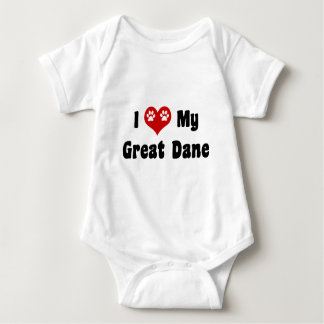 I Love My Great Dane Baby Bodysuit