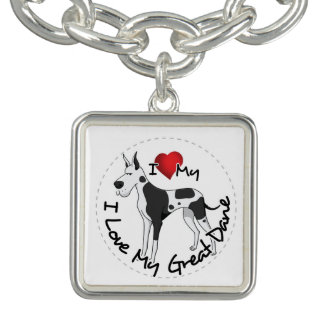 I Love My Great Dane Dog Bracelet