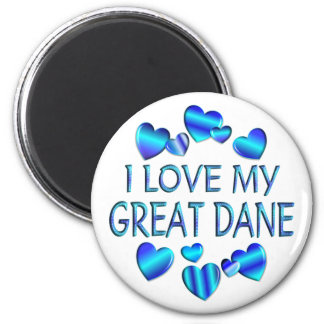 I Love My Great Dane Magnet