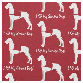 I Love My Great Dane Service Dog! Fabric