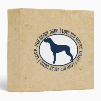 I Love My Great Dane Vinyl Binders