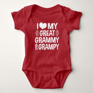 I Love My Great Grammy and Great Grampy Baby Bodysuit