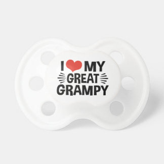 I Love My Great Grampy Baby Pacifiers