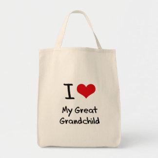 I Love My Great Grandchild Tote Bag