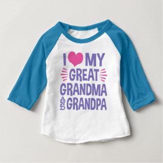 I Love My Great Grandma and Grandpa Baby T-Shirt