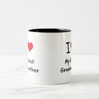 I Love My Great Grandmother Two-Tone Coffee Mug