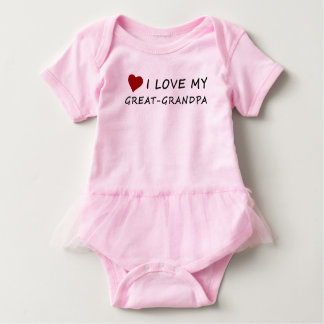 I Love My Great-Grandpa with Heart Baby Bodysuit