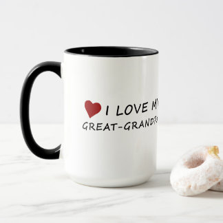 I Love My Great-Grandpa with Heart Mug