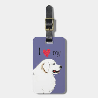 I Love my Great Pyrenees Luggage Tag