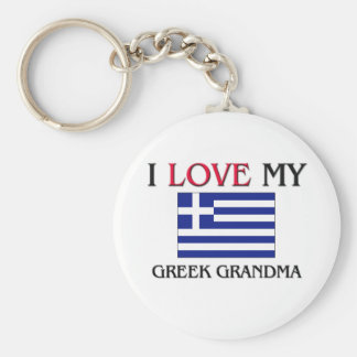 I Love My Greek Grandma Basic Round Button Keychain