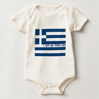I love my greek mom baby t-shirts