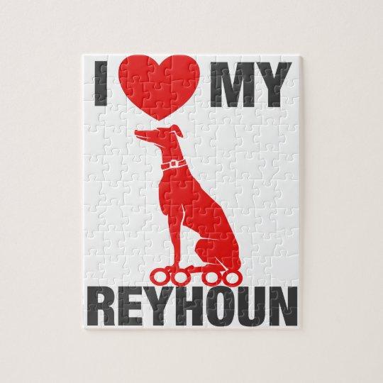 I Love My Greyhound Jigsaw Puzzle