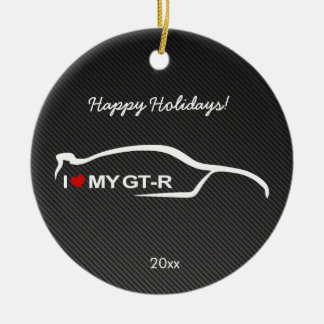 I love my GT-R with Carbon fiber Ceramic Ornament