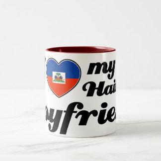 I love my Haitian boyfriend Two-Tone Coffee Mug