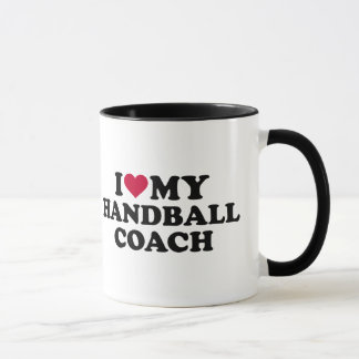 I love my handball coach mug