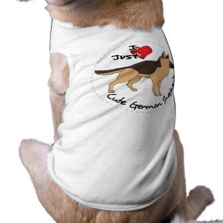 I Love My Happy Adorable & Cute German Shepherd Shirt