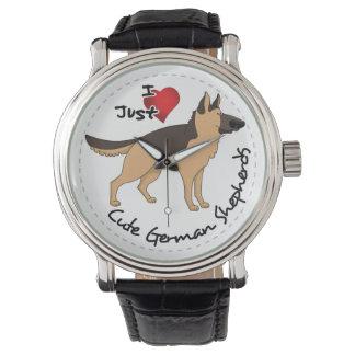 I Love My Happy Adorable & Cute German Shepherd Watch