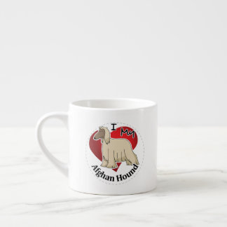 I Love My Happy Adorable Funny & Cute Afghan Hound Espresso Cup