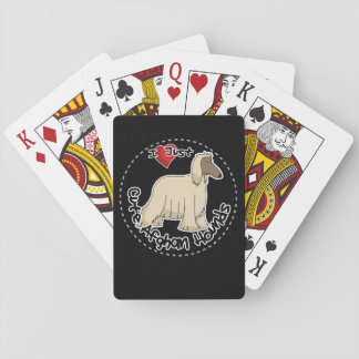I Love My Happy Adorable Funny & Cute Afghan Hound Playing Cards