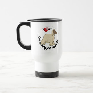 I Love My Happy Adorable Funny & Cute Afghan Hound Travel Mug
