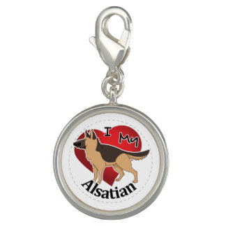 I Love My Happy Adorable Funny & Cute Alsatian Dog Charms