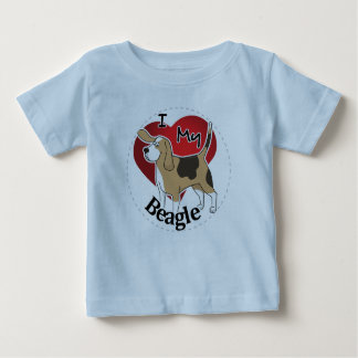 I Love My Happy Adorable Funny & Cute Beagle Dog Baby T-Shirt