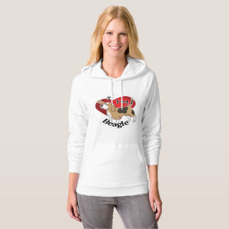 I Love My Happy Adorable Funny & Cute Beagle Dog Hoodie