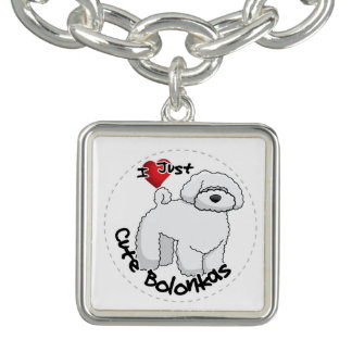 I Love My Happy Adorable Funny & Cute Bolonka Dog Bracelet