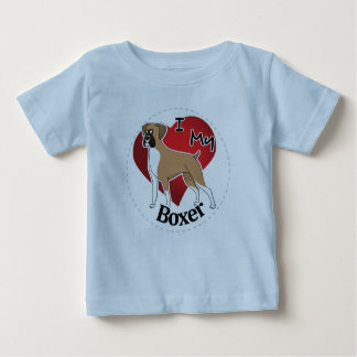 I Love My Happy Adorable Funny & Cute Boxer Dog Baby T-Shirt
