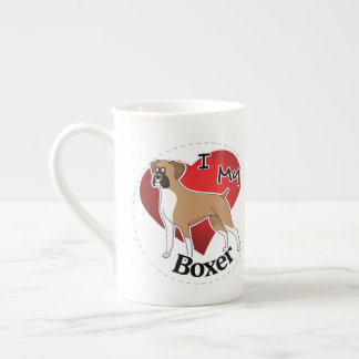 I Love My Happy Adorable Funny & Cute Boxer Dog Tea Cup