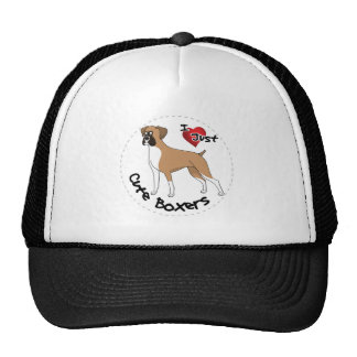 I Love My Happy Adorable Funny & Cute Boxer Dog Trucker Hat