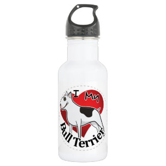 I Love My Happy Adorable Funny & Cute Bull Terrier 532 Ml Water Bottle