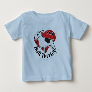 I Love My Happy Adorable Funny & Cute Bull Terrier Baby T-Shirt