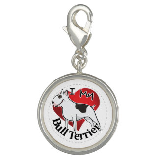 I Love My Happy Adorable Funny & Cute Bull Terrier Charm