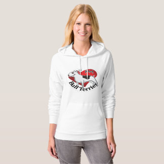 I Love My Happy Adorable Funny & Cute Bull Terrier Hoodie
