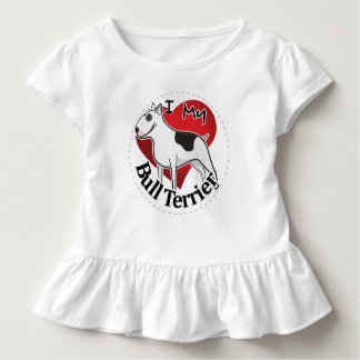 I Love My Happy Adorable Funny & Cute Bull Terrier Toddler T-shirt