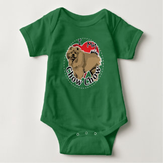 I Love My Happy Adorable Funny & Cute Chow Chow Baby Bodysuit