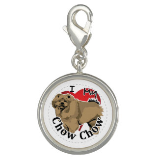 I Love My Happy Adorable Funny & Cute Chow Chow Photo Charm