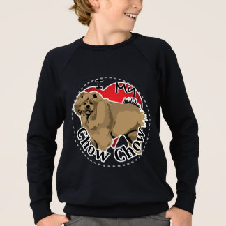 I Love My Happy Adorable Funny & Cute Chow Chow Sweatshirt